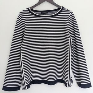 EUC Striped Bell Sleeves Top